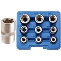 Steckschlüsseleinsätze für E-Profil, E10-E24, 12,5 (1/2), 9-tlg.